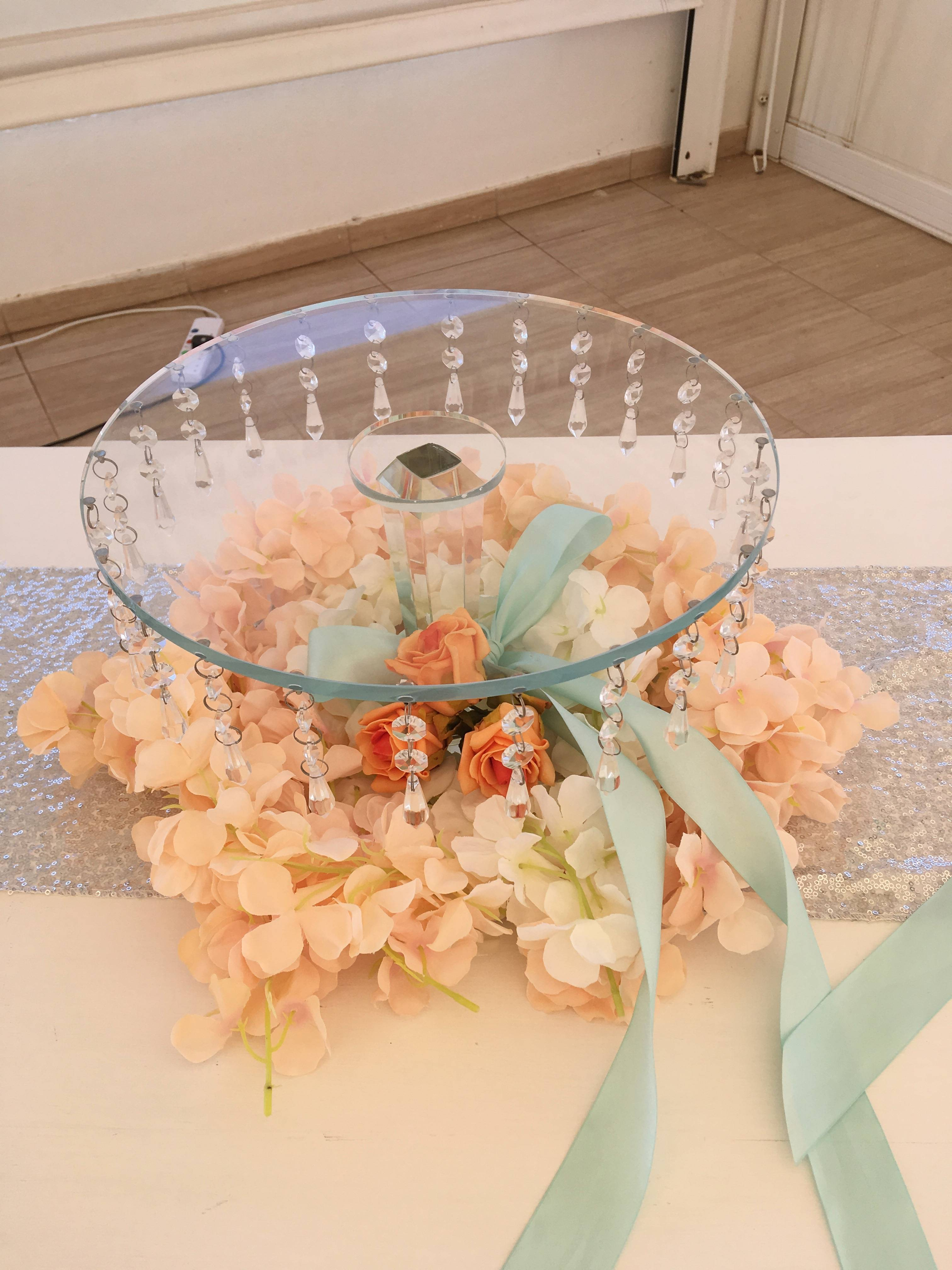 Cake stand decor.