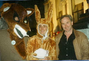 TD tony Gregory at Louth hunt ball demo, Shelbourne hotel August 1994