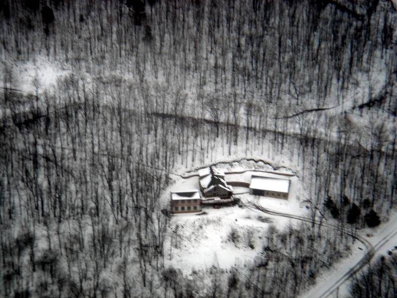 Winter aerial view