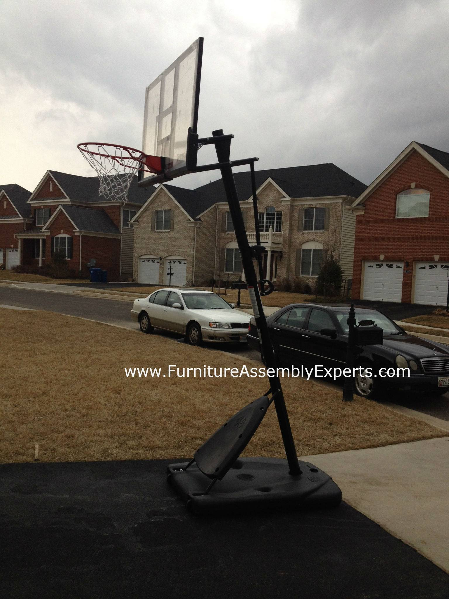 portable basketball hoop assembly service in dundalk MD