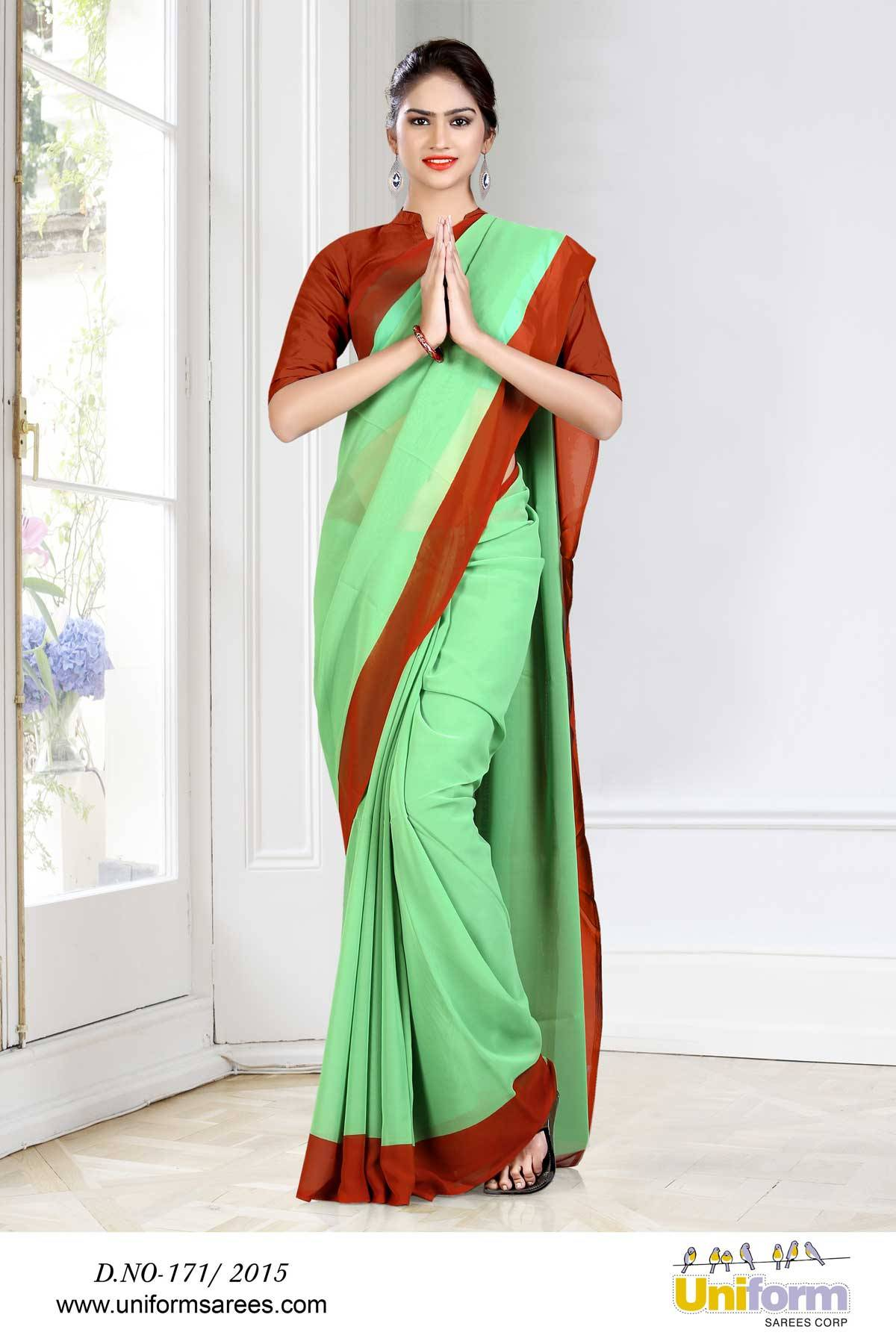 Uniform Sarees For Hospital Nurse | Uniform Design No 171/2015