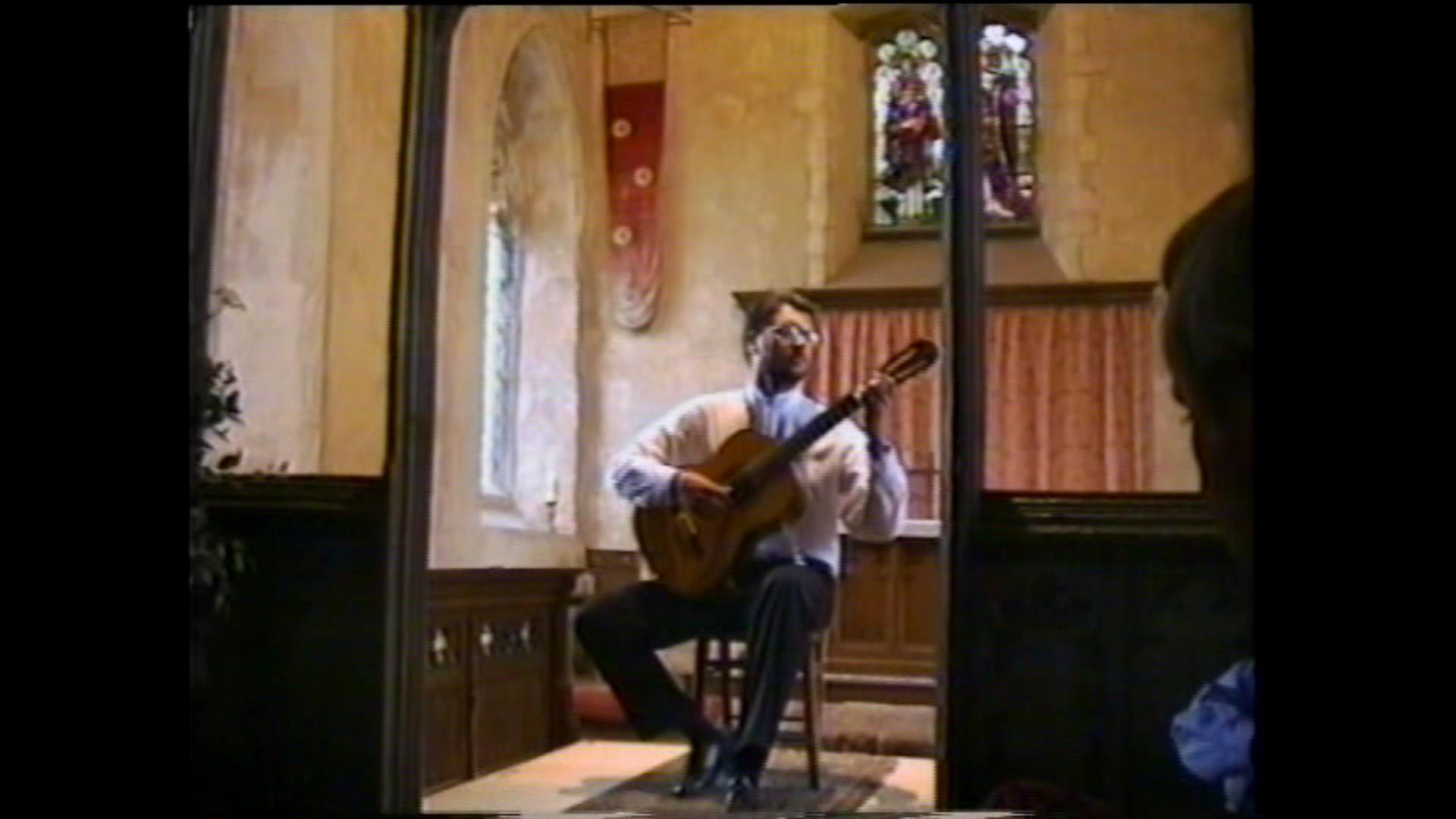 Recital in England, UK, 1997.