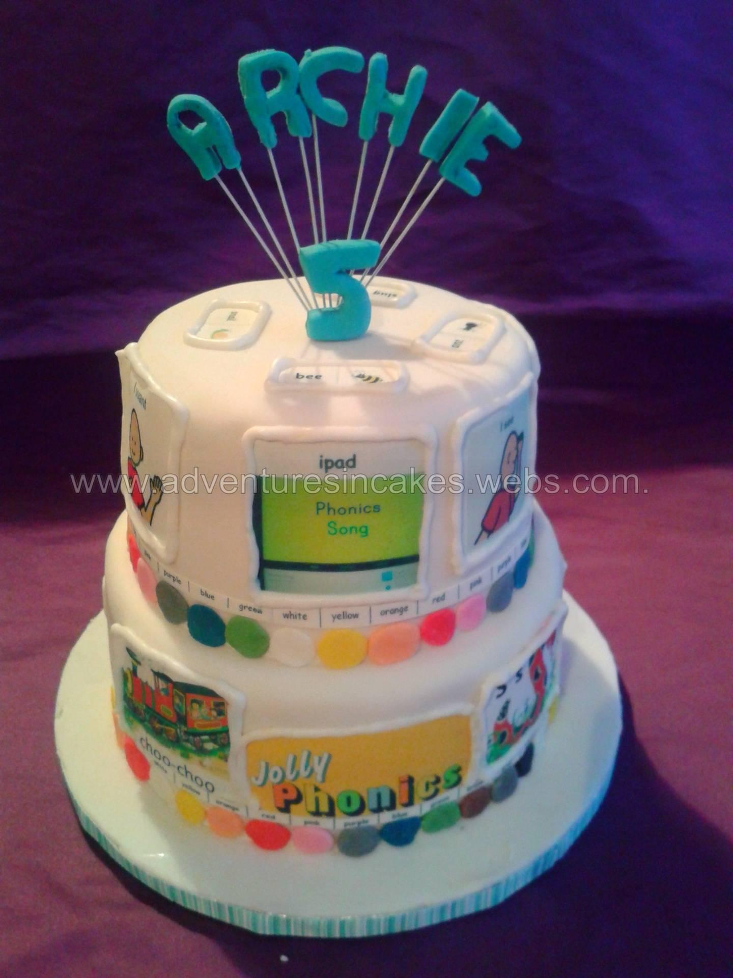 Jolly Phonics Cake