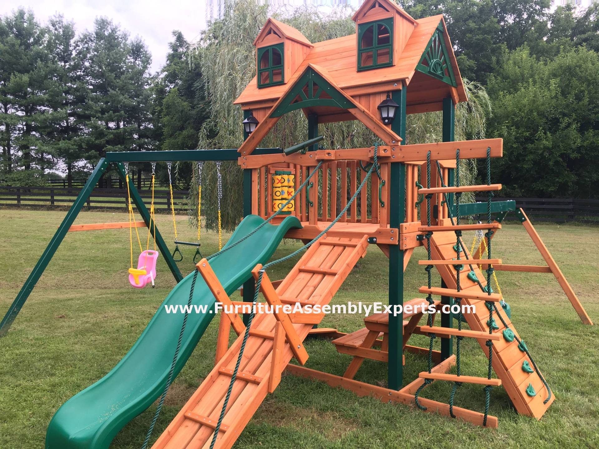 Gorilla frontier cedar playset assembly in DC MD VA