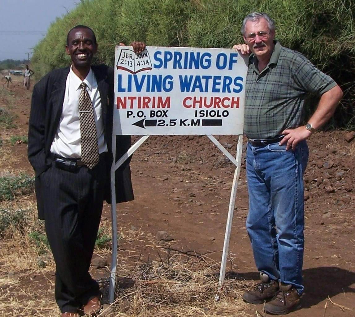 Linus with Pastor Johnson