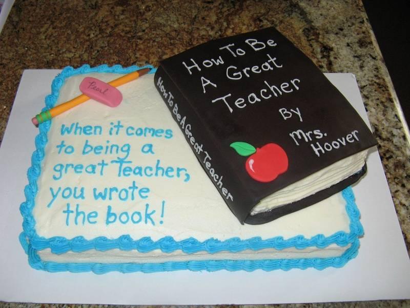 Dairy-free Teacher Appreciation Day cake!