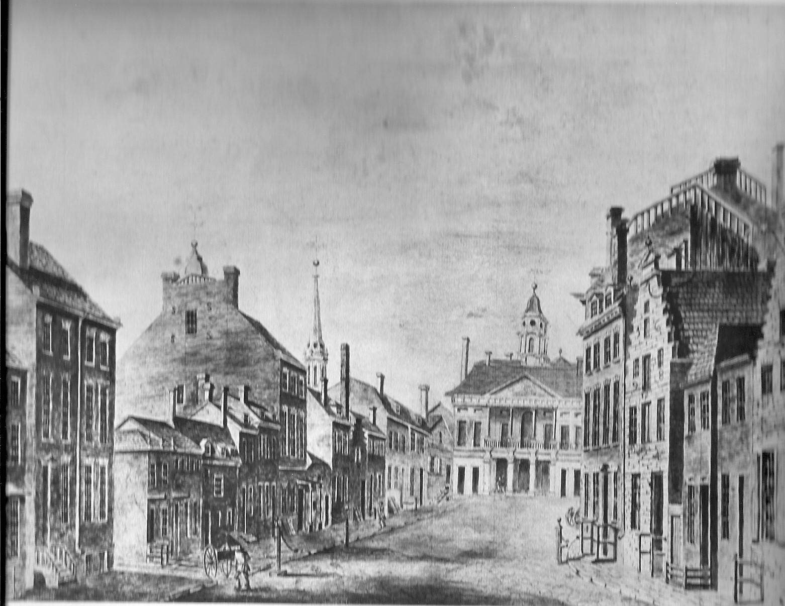 Upper End of Broad St. Manhattan 1797