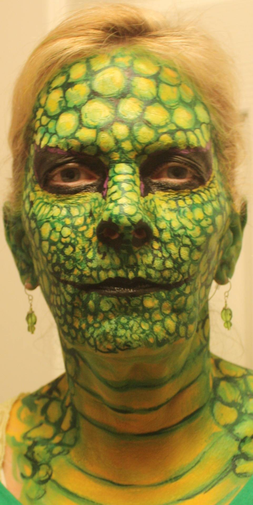 Reptile Face Painting