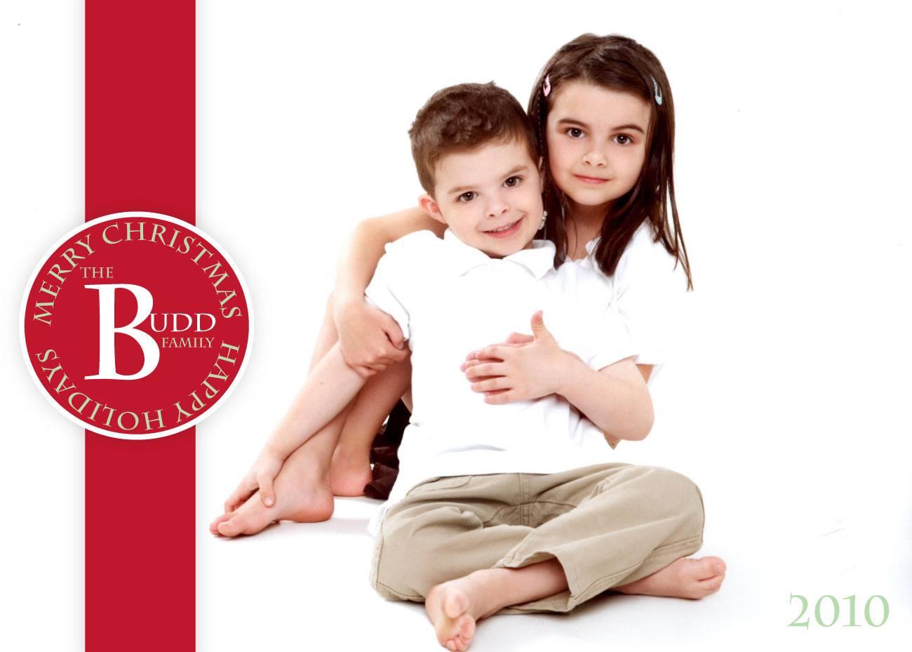 Red Ribbon Holiday Greeting Card