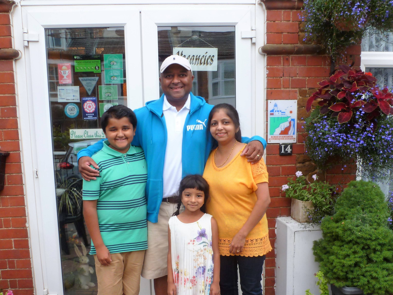Mitesh, Maya, Junior & Tiana