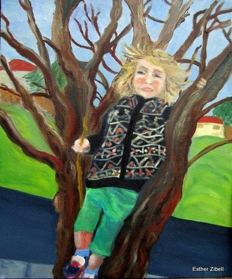 Little boy n tree
