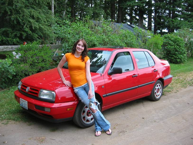 Nicole with her First Car
