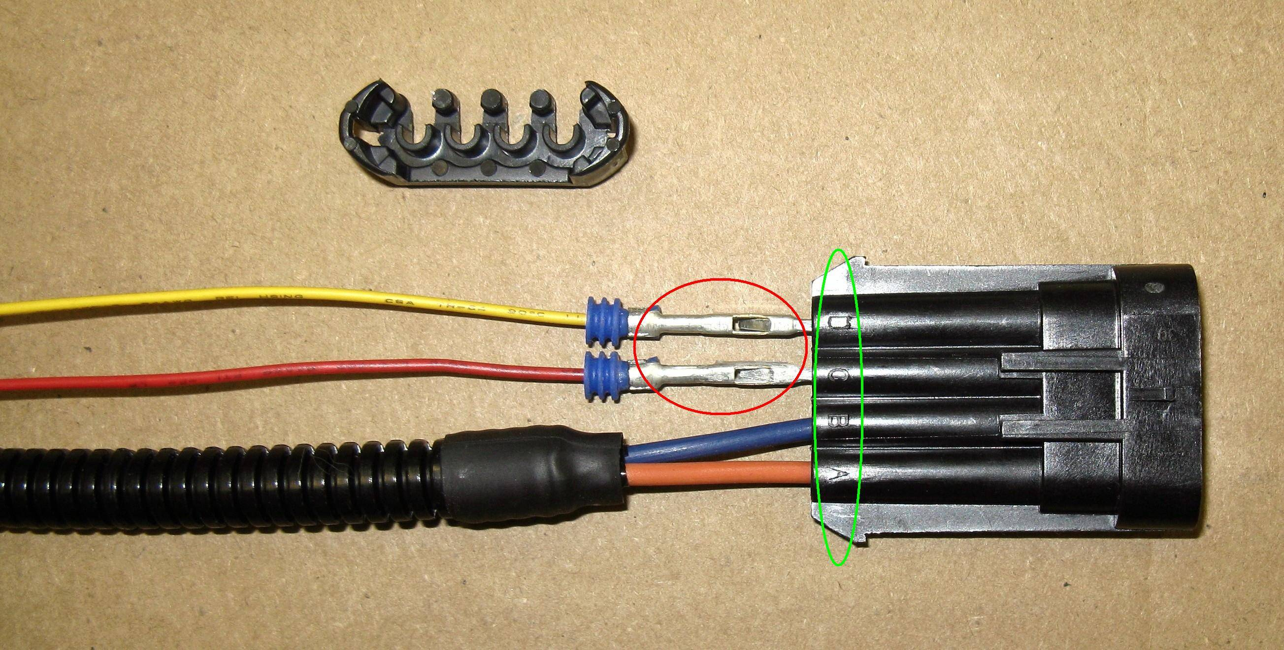 Upper wiring harness/LED