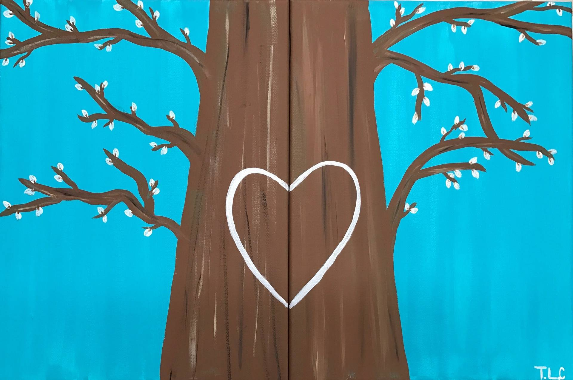 Couples Paint Tree