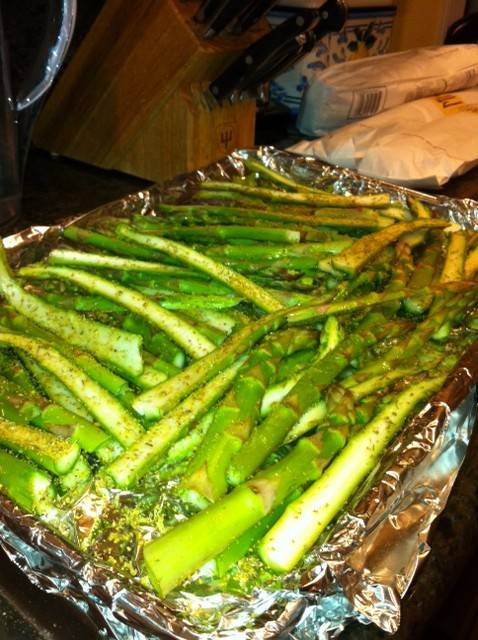 Roast Asparagus with Fennel Pollen