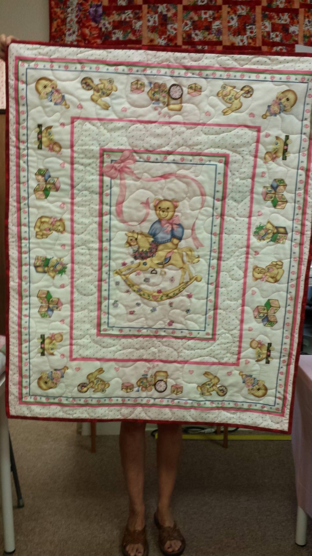 Adorable reversable panel quilt