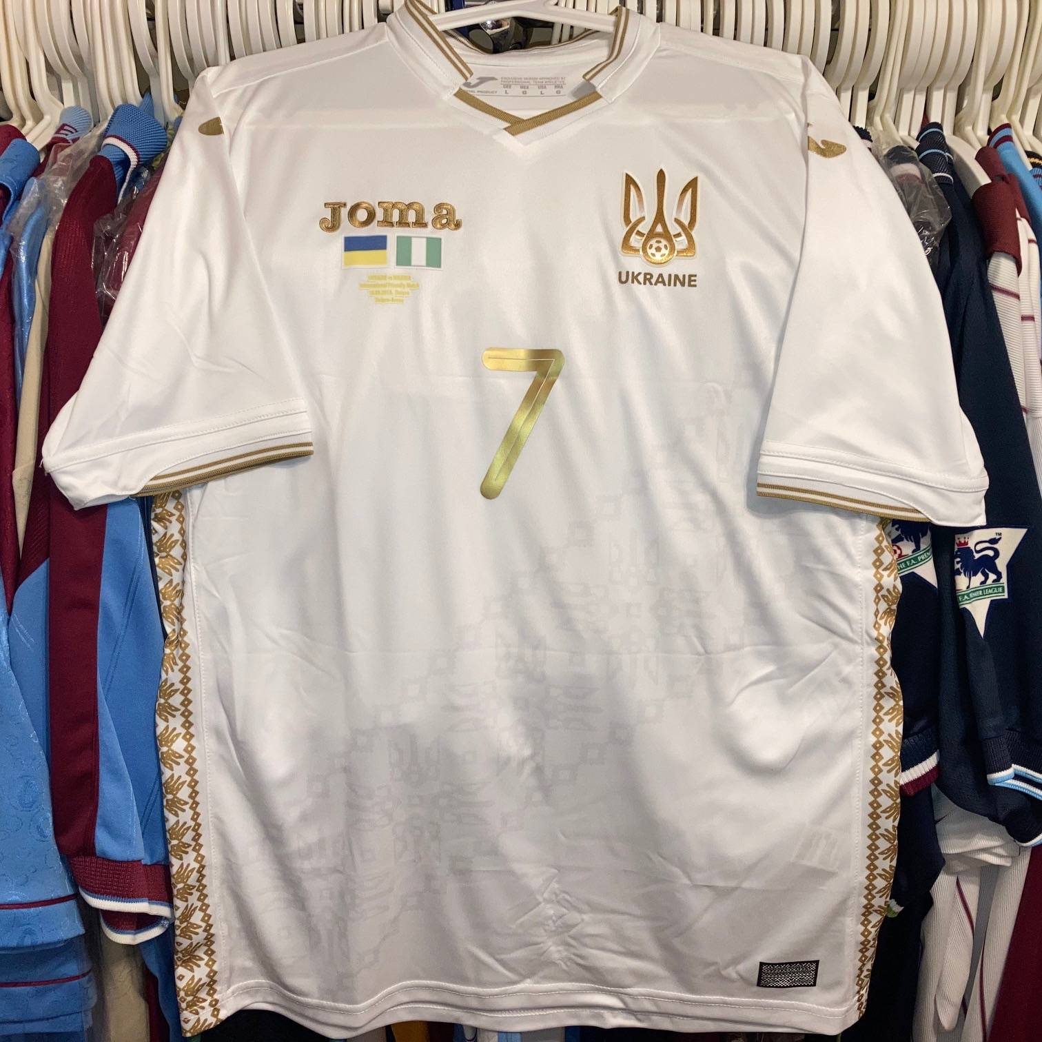 Andrij Yarmolenko Ukraine shirt.