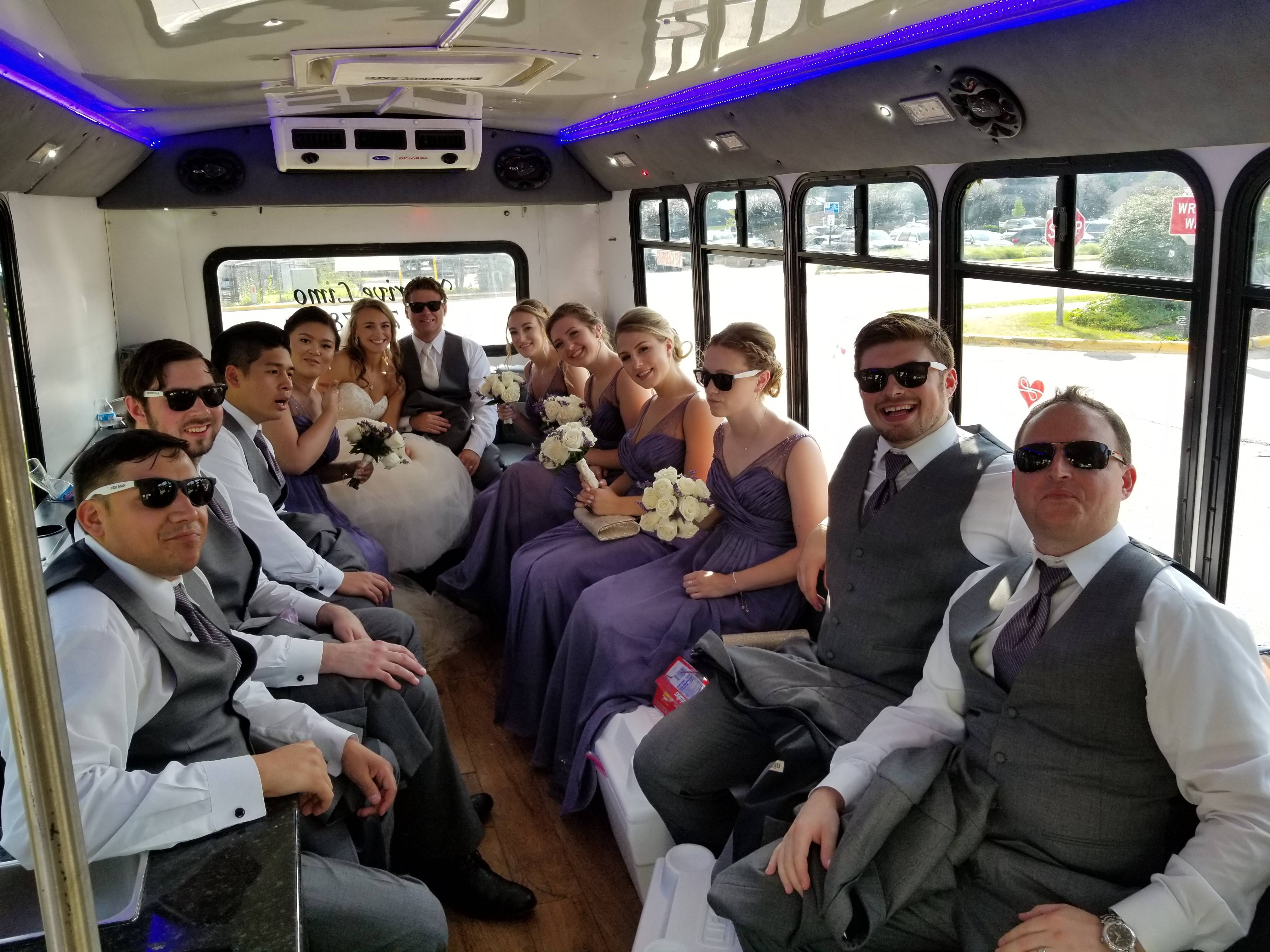 Baessler Wedding on the new #8 Party Bus