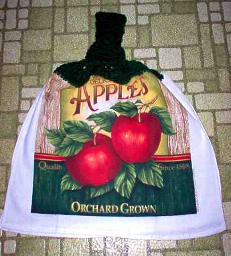 Orchard Grown Apples Full Kitchen Grill Towel