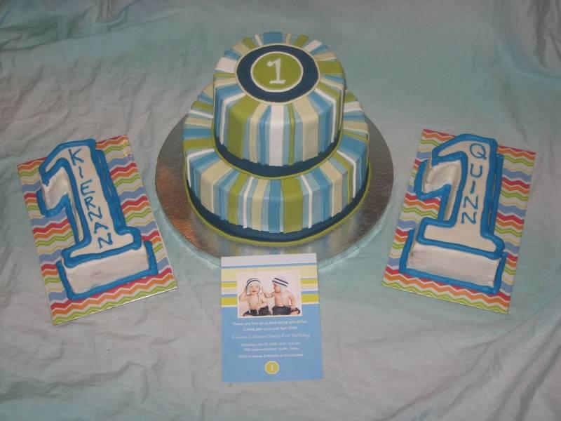 Twins 1st Birthday Cake
