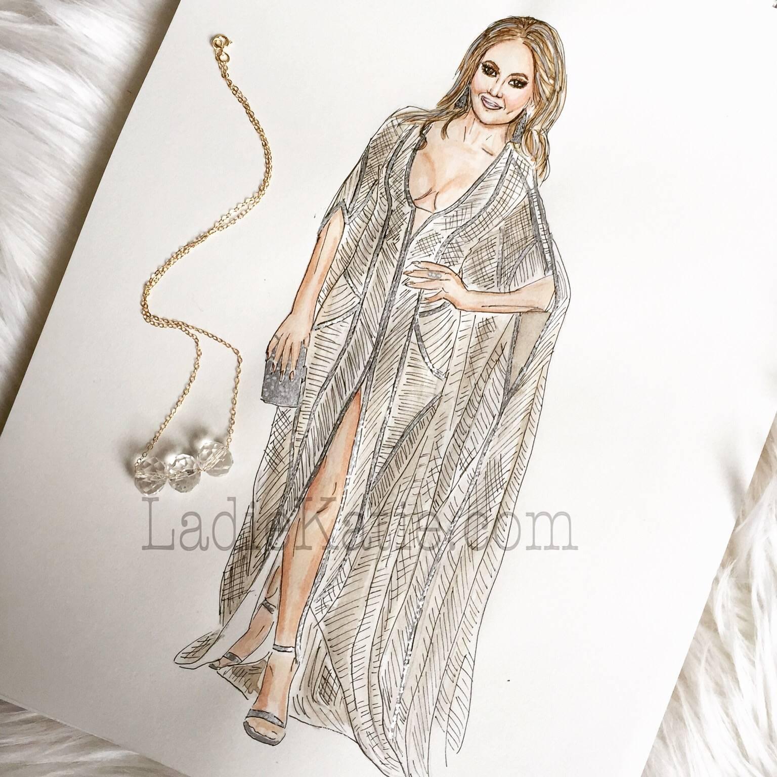 Jennifer Lopez Watercolor