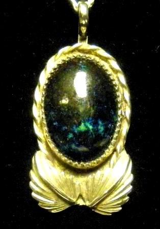 09-01225 Azurite-Malachite Pendant