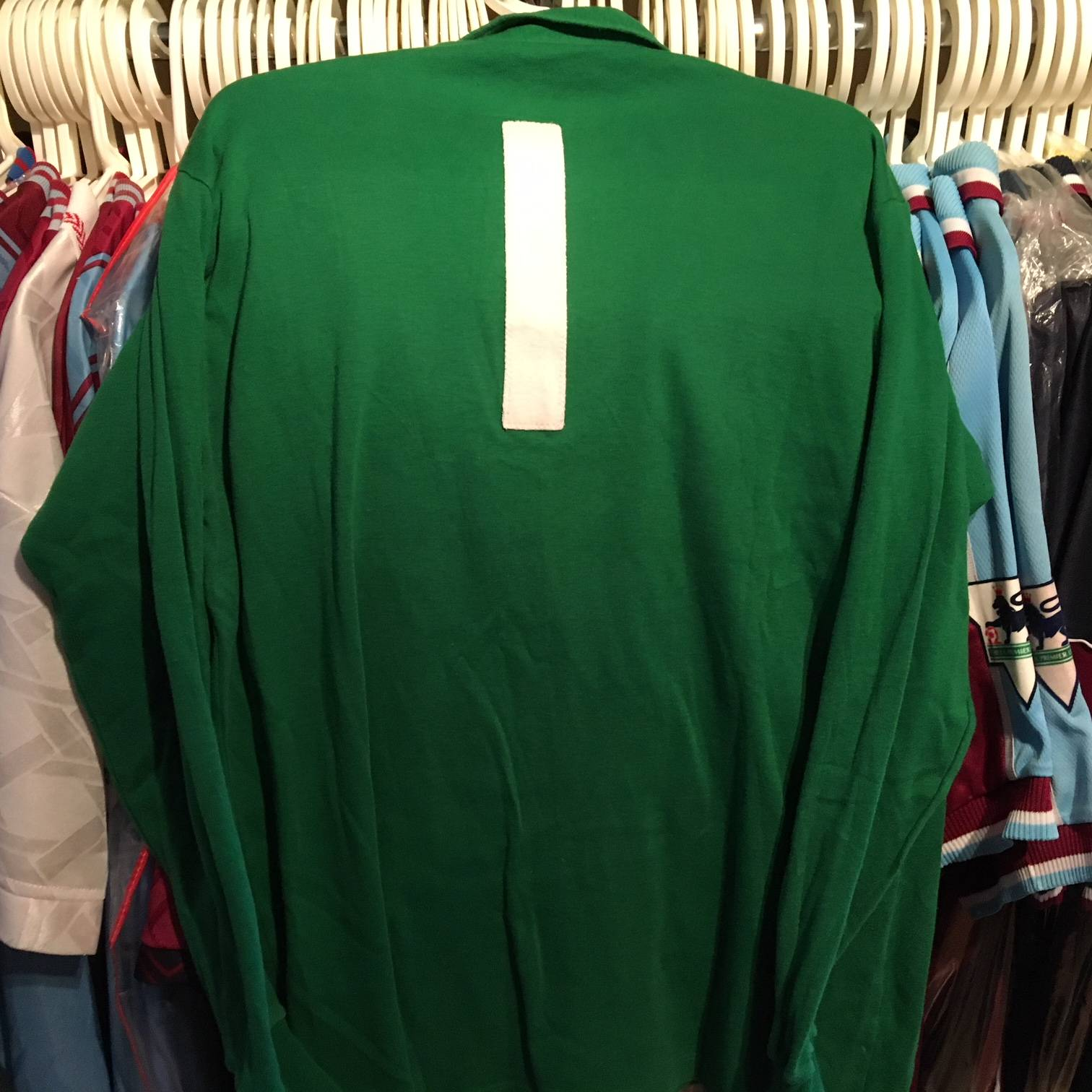 Mervyn Day goalkeeper shirt from the Anglo-Italian Cup Winners Cup Final.
