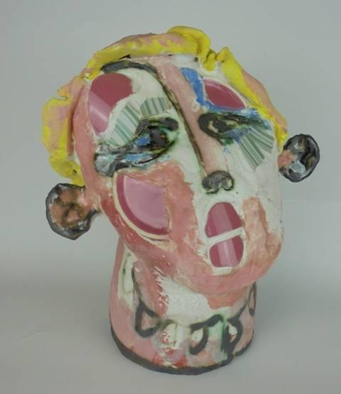 Mary Jones Ceramics. Green thumbs.  SOLD