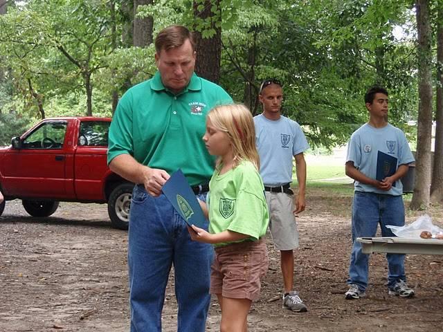 Mayor making presentation to youth at Cops Camp