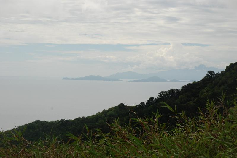 View of Les Saintes from Dominica