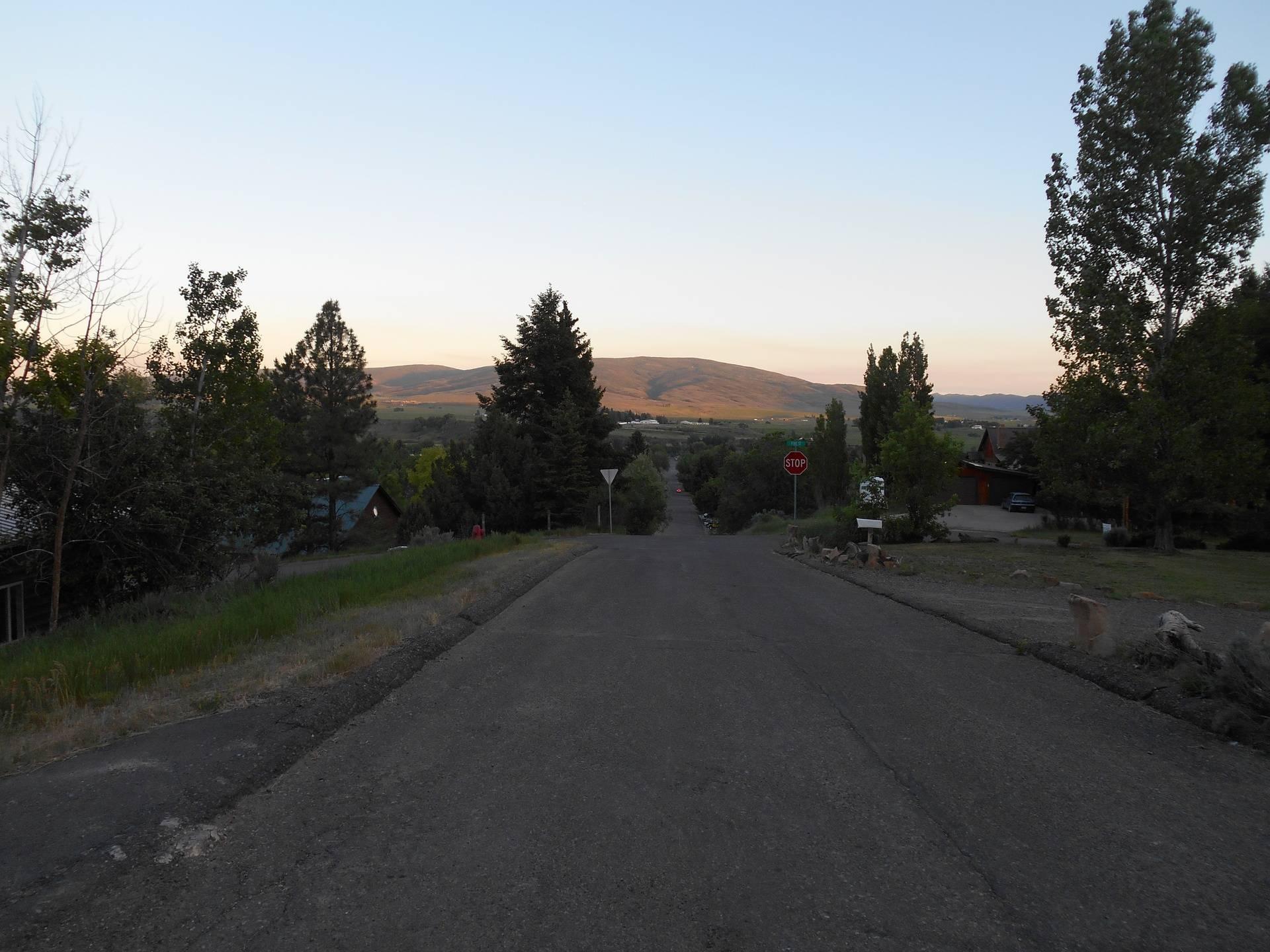 Sundown view from Jean's street