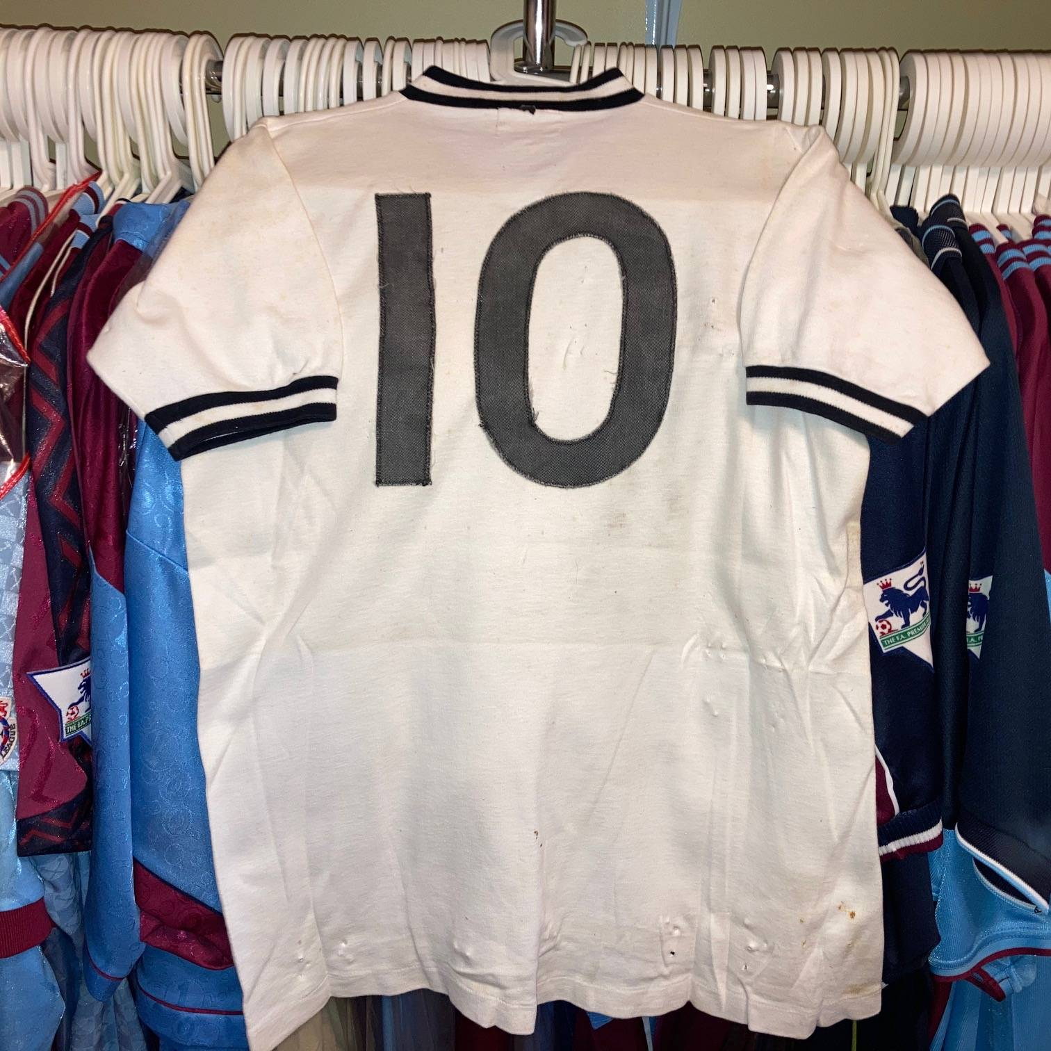 John Sissons worn and signed 1961 England schoolboy shirt