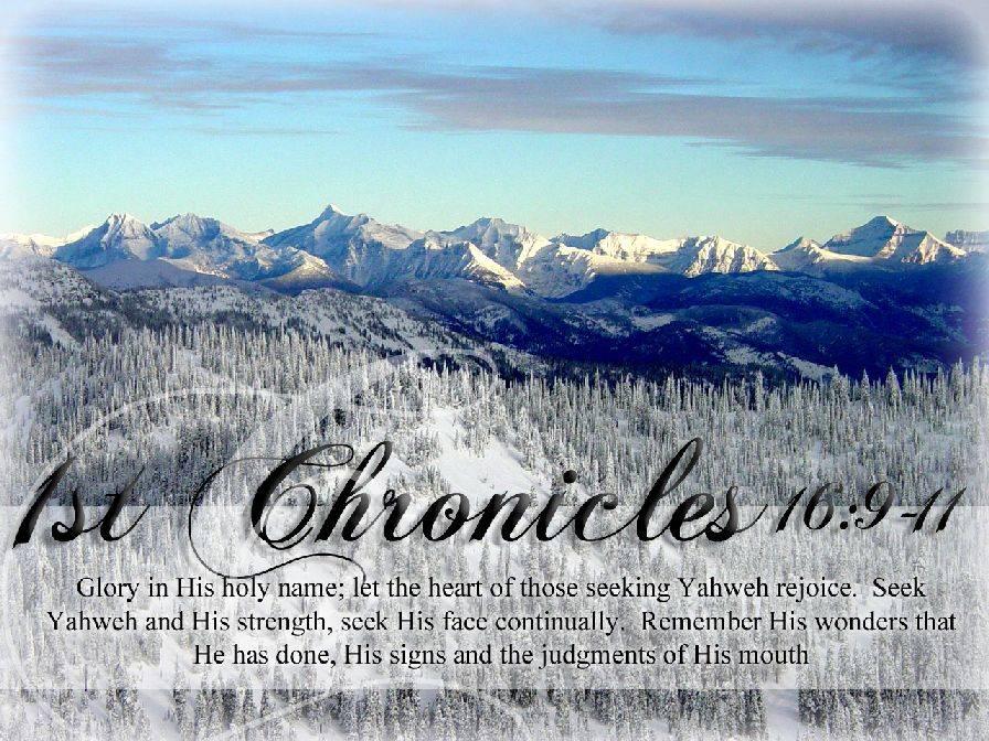 1st Chronicles 16:9-11