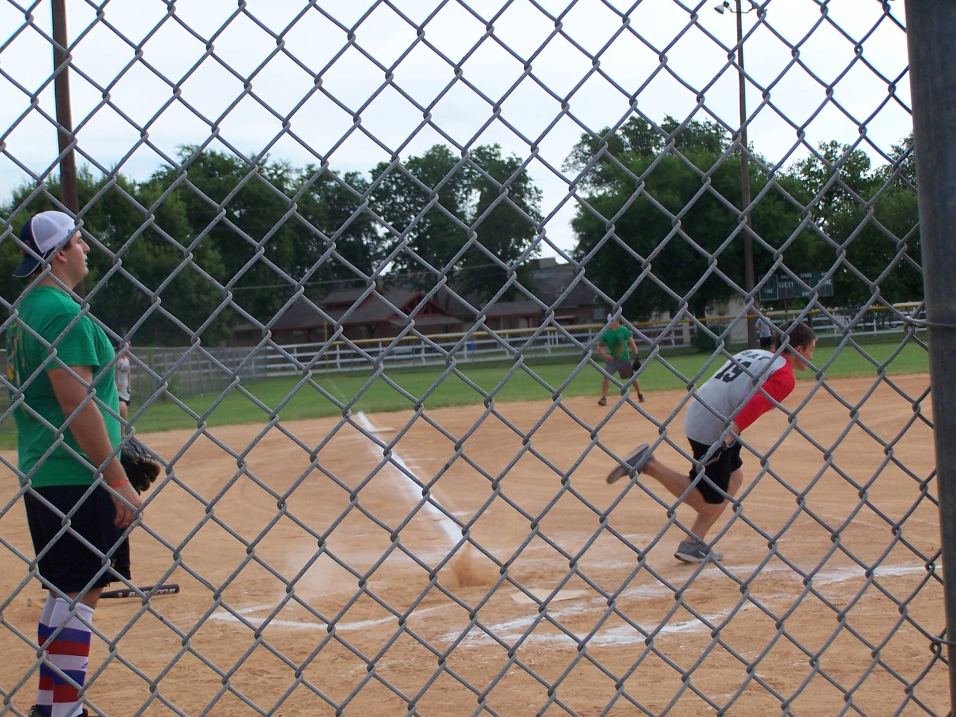 Pedernales takes it to first base
