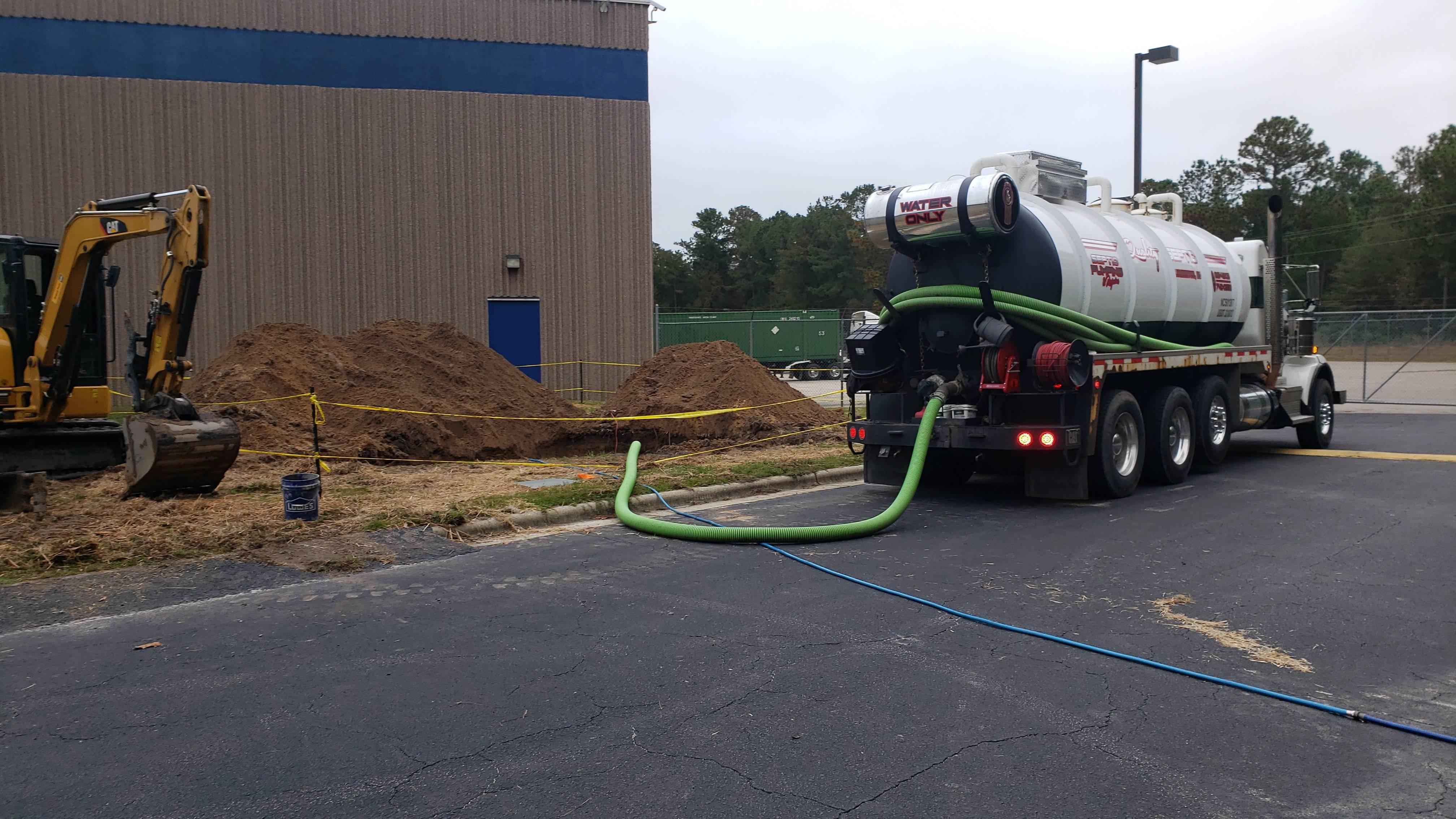 Commercial Storm drain repair.