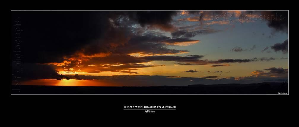 Sunset off the Lancashire Coast, England