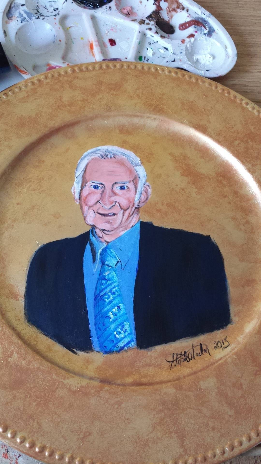 Portrait on a Plate