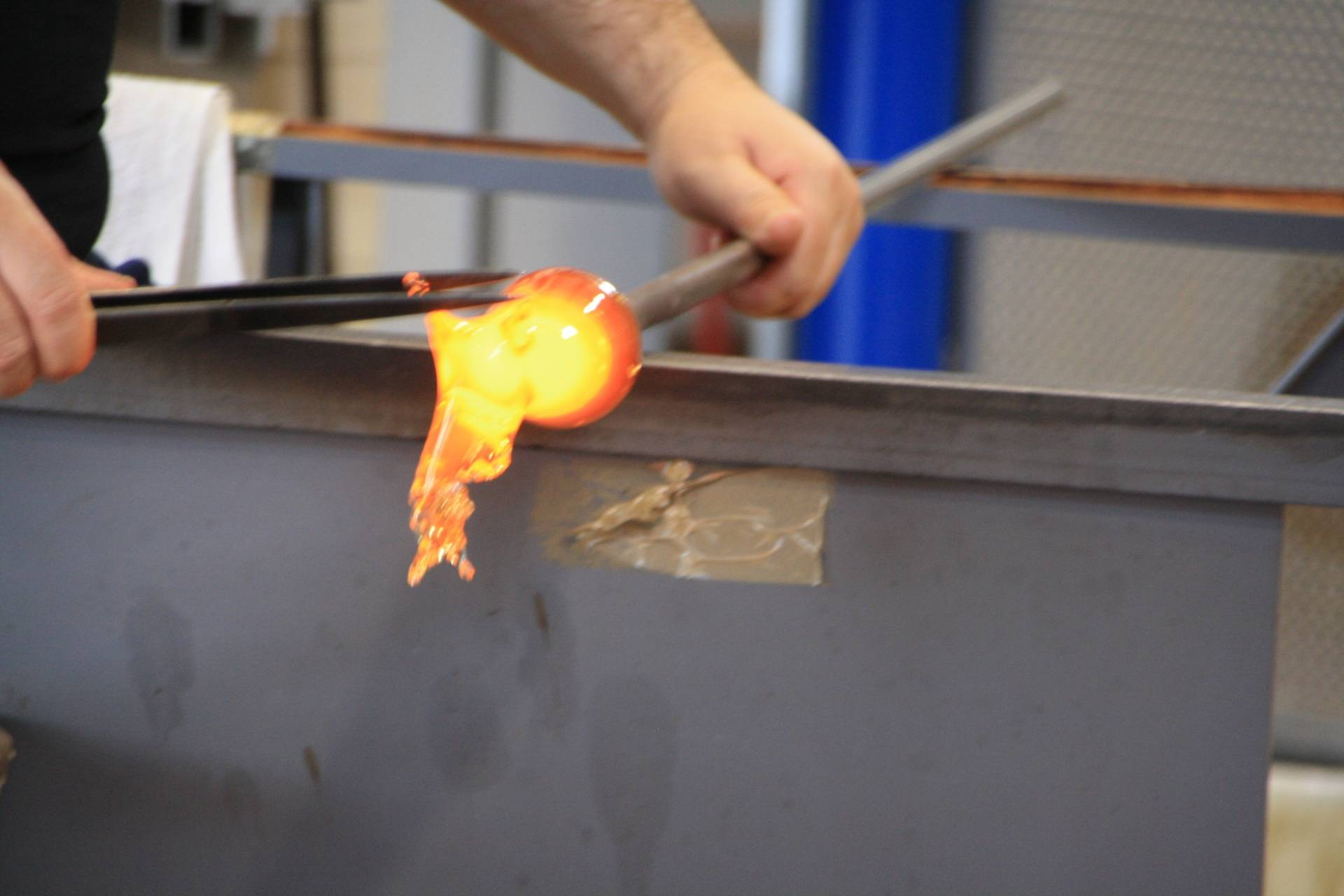 Venice glass-blowing demonstration