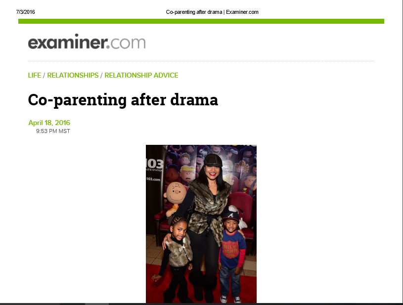 Co-Parenting after drama