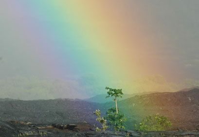 Rainbow and lava