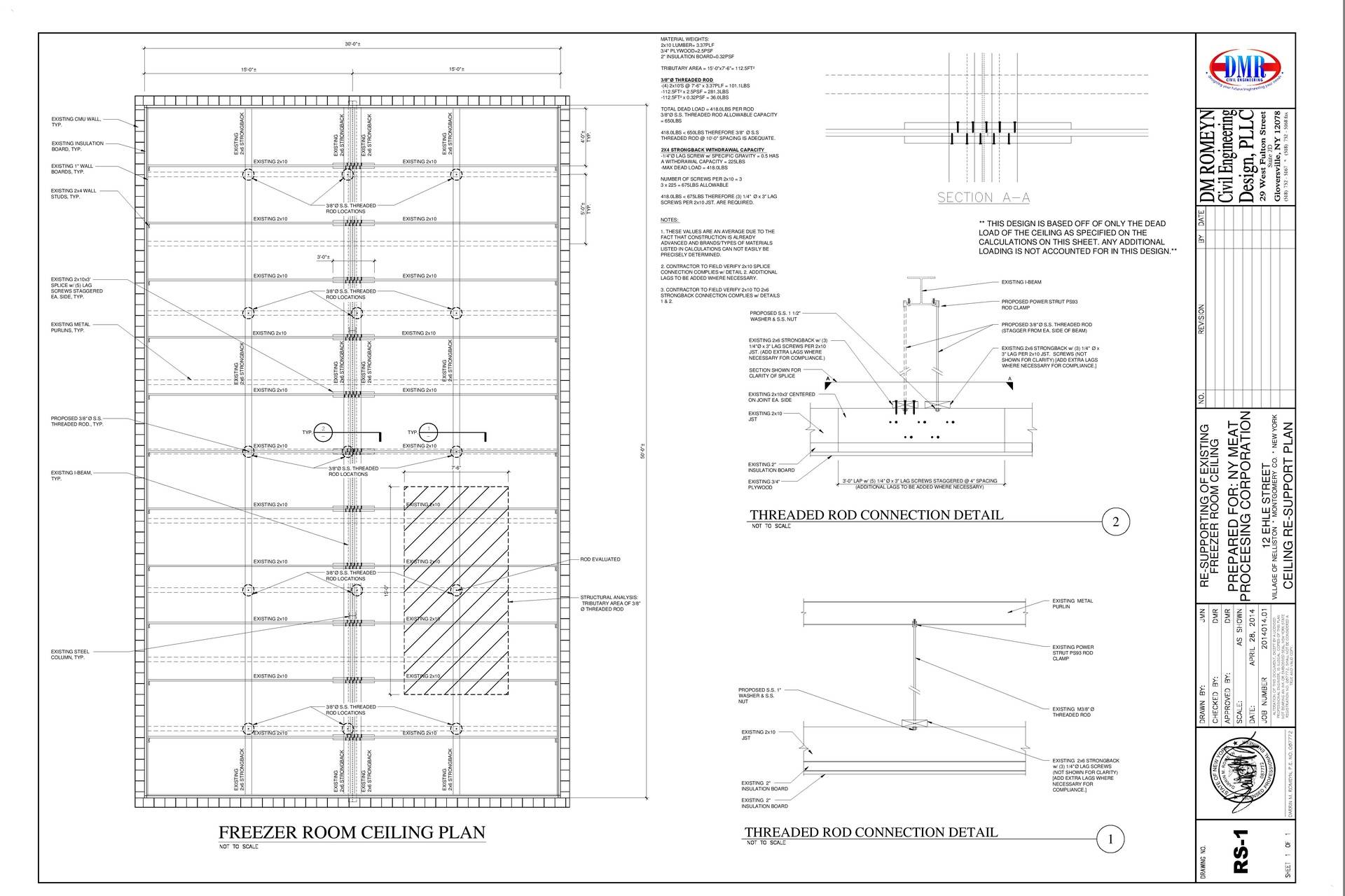 Structural Design for NY Meat Processing Corporation