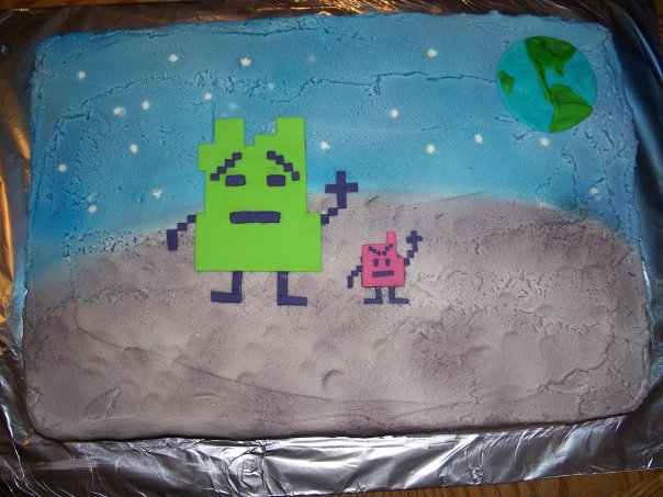 Mooninites Cake