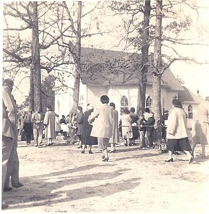 Mt Olive Church Dinner on the Grounds 1950s