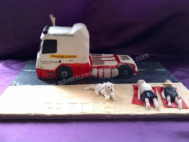 Lorry retirement Cake