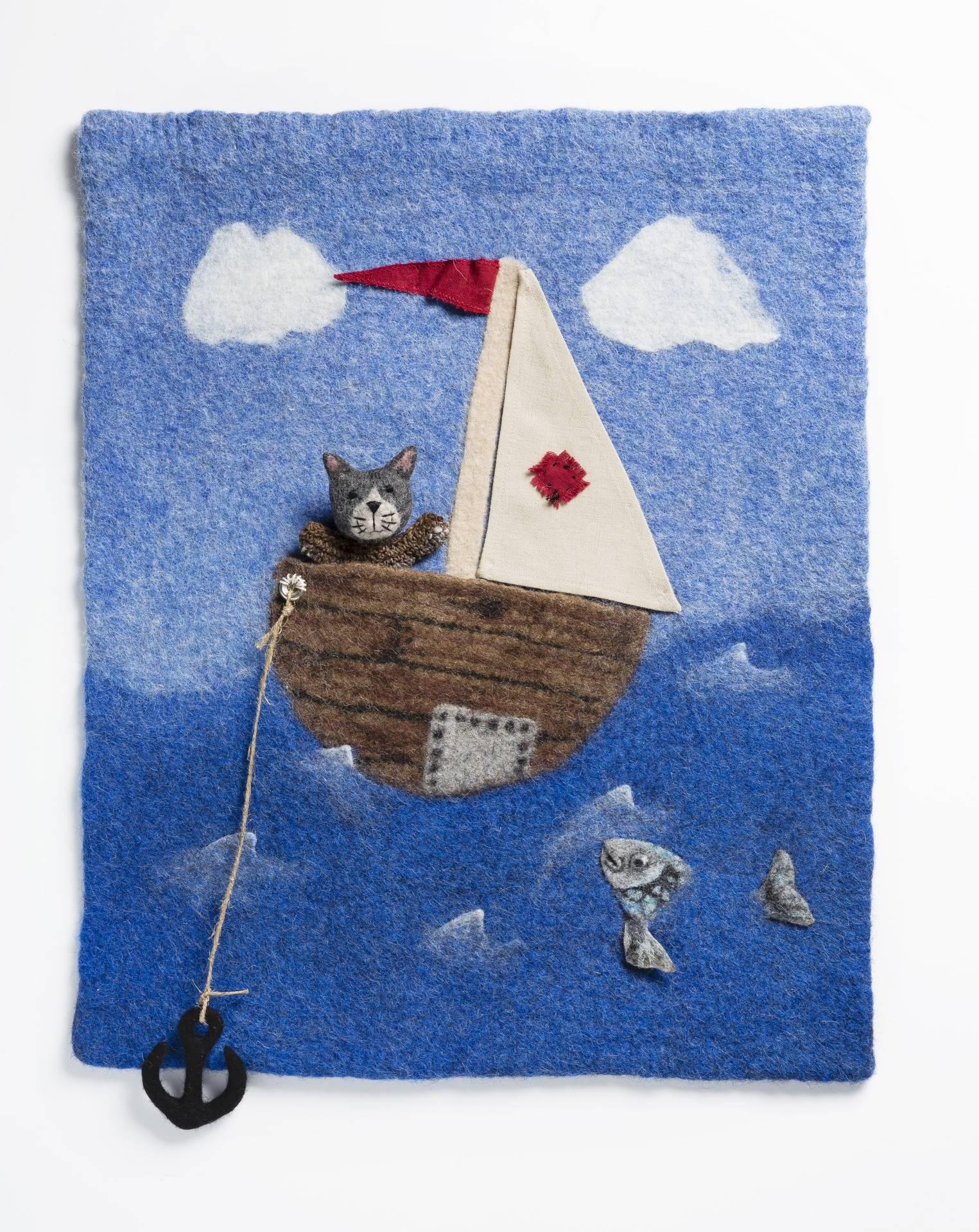 Kissa matkalla, Cat in a boat