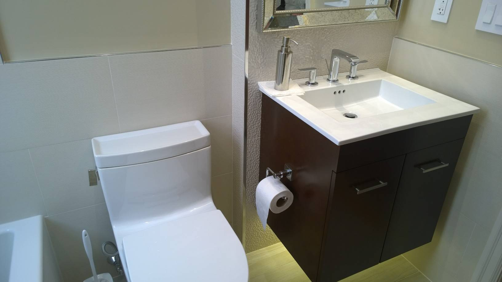 Heated Toilet and Floating Vanity