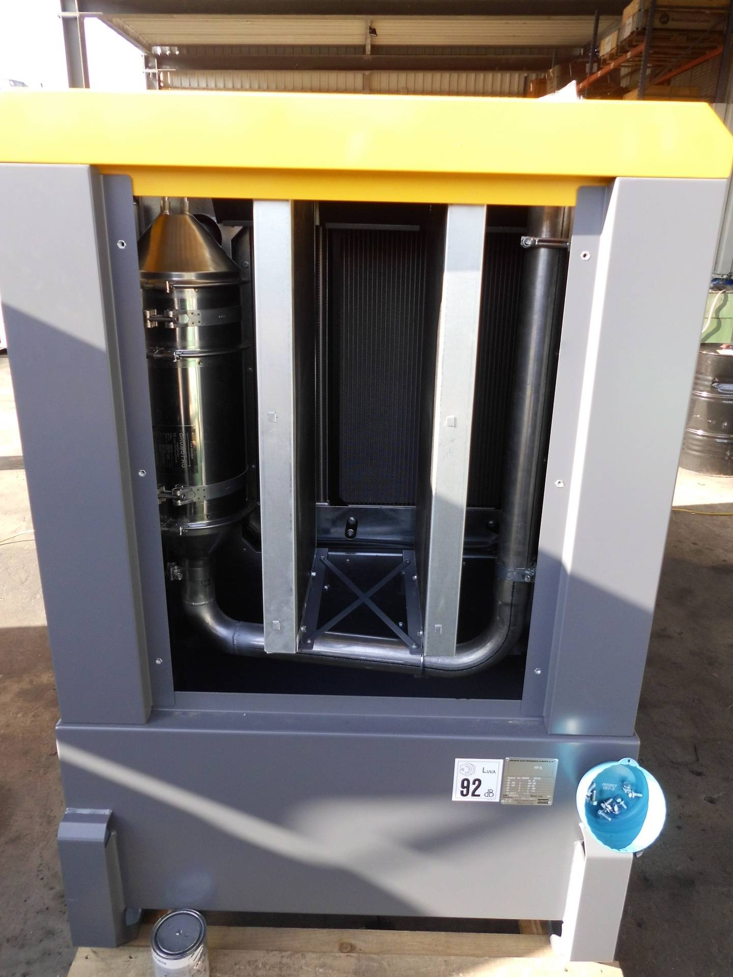 Stromgenerator Atlas Copco QAS 100 mit Baumot BAB9120 Partikelfilter System