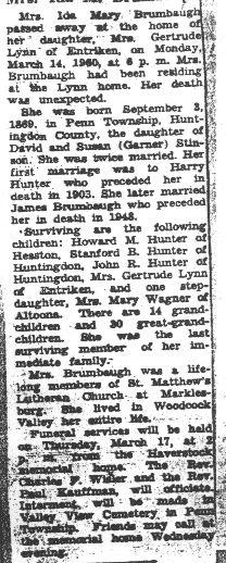 Brumbaugh, Ida Stinson Hunter 1960