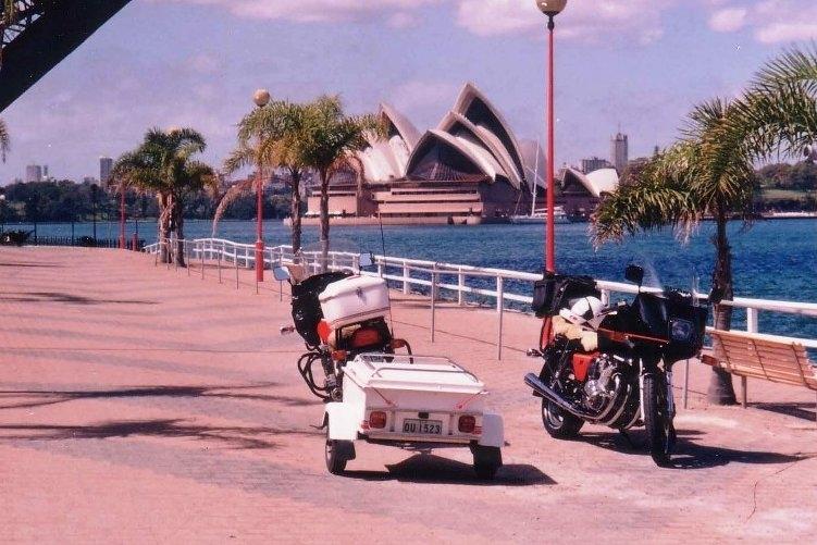 Toms XJ900 & Trailer with Graeme's Bikeat Luna Park Sydney - Oct 1993