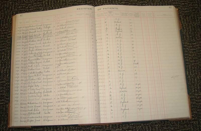 Wanganui Hospital Register
